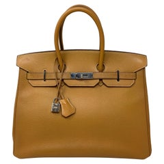 Hermes Birkin Natural 35 Bag