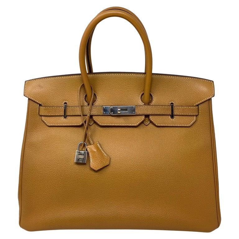 Hermes Birkin Natural 35 Bag  For Sale