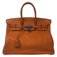 Hermes Birkin Orange 35 Bag