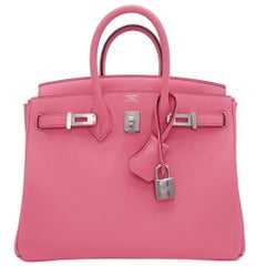 Hermès Birkin Rose Ete Swift Leather Palladium Hardware