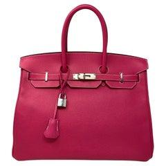 Hermès Birkin Rose Tyrien 35 Bag