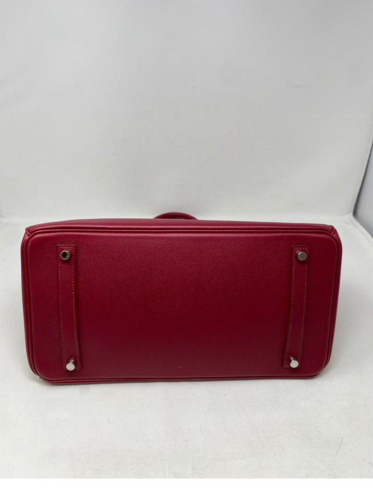 Hermes Birkin Rubis 35 Bag For Sale 5