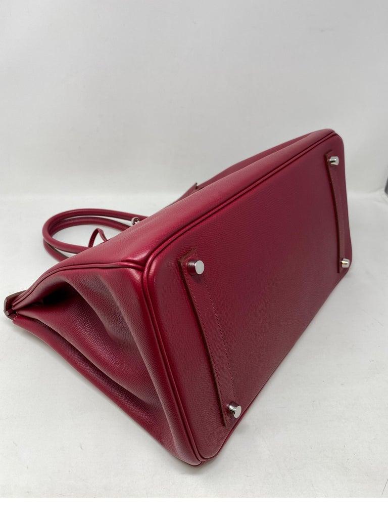Hermes Birkin Rubis 35 Bag For Sale 6