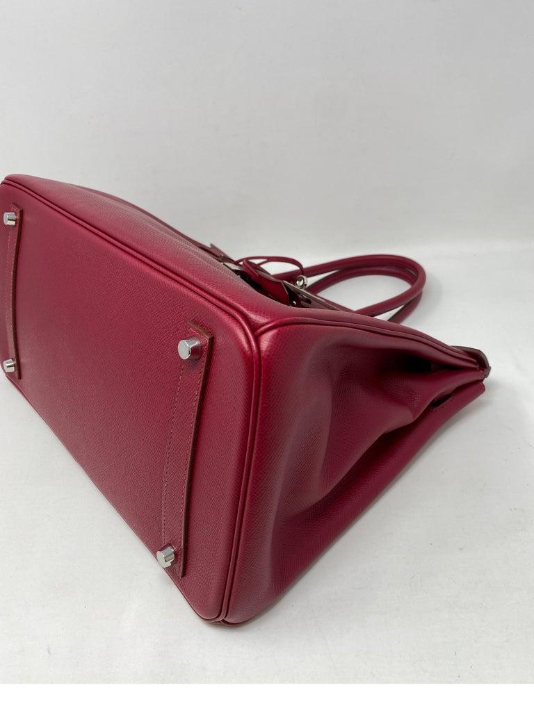 Hermes Birkin Rubis 35 Bag For Sale 7