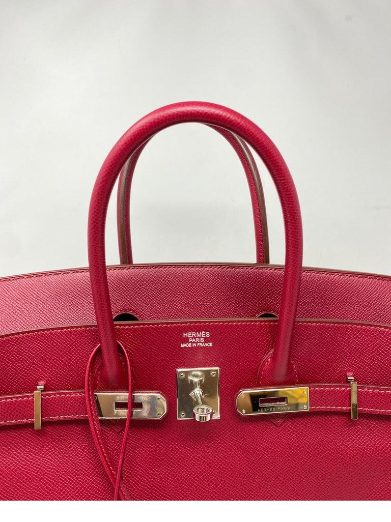 Hermes Birkin Rubis 35 Bag For Sale 9