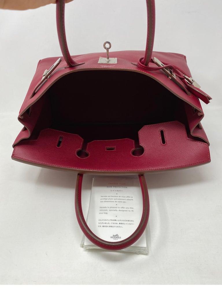 Hermes Birkin Rubis 35 Bag For Sale 10