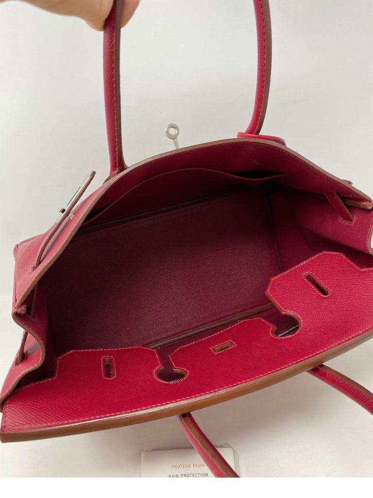 Hermes Birkin Rubis 35 Bag For Sale 11