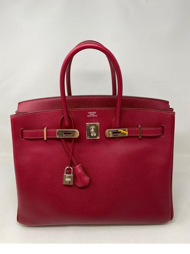 Hermes Birkin Rubis 35 Bag For Sale 12