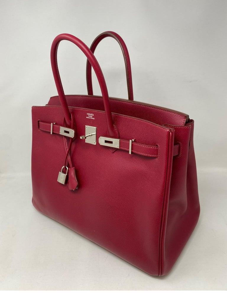 Hermes Birkin Rubis 35 Bag For Sale 13
