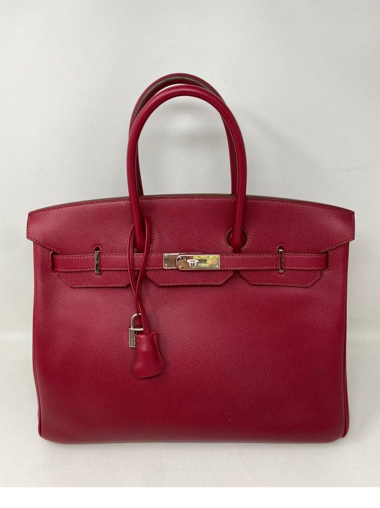 Red Hermes Birkin Rubis 35 Bag For Sale