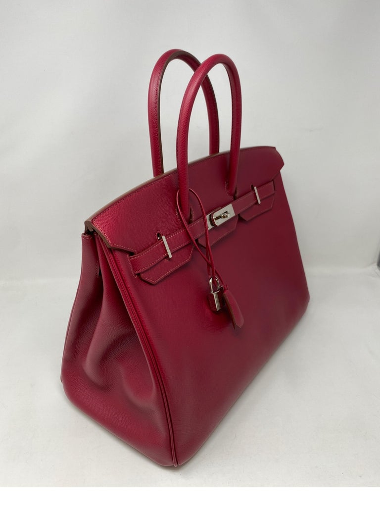 Hermes Birkin Rubis 35 Bag In Good Condition For Sale In Athens, GA