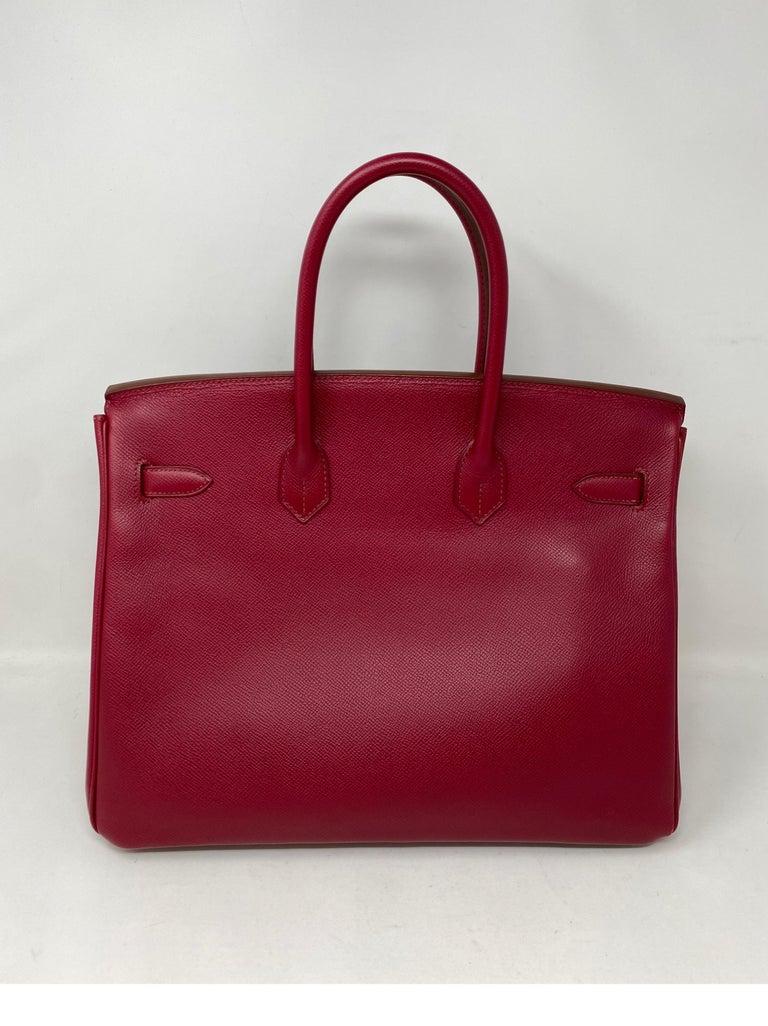 Hermes Birkin Rubis 35 Bag For Sale 2