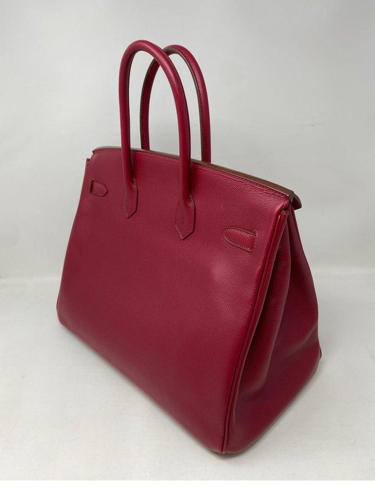 Hermes Birkin Rubis 35 Bag For Sale 3