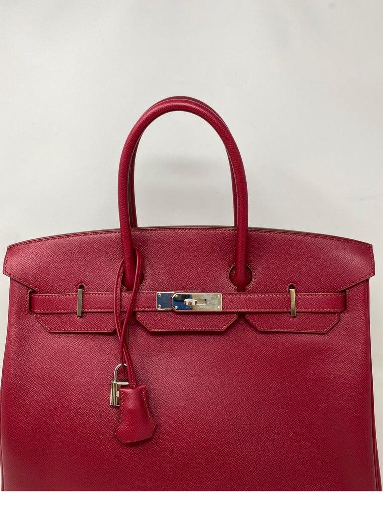 Hermes Birkin Rubis 35 Bag For Sale 4