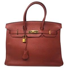 Hermes Birkin Sienne 35 Bag