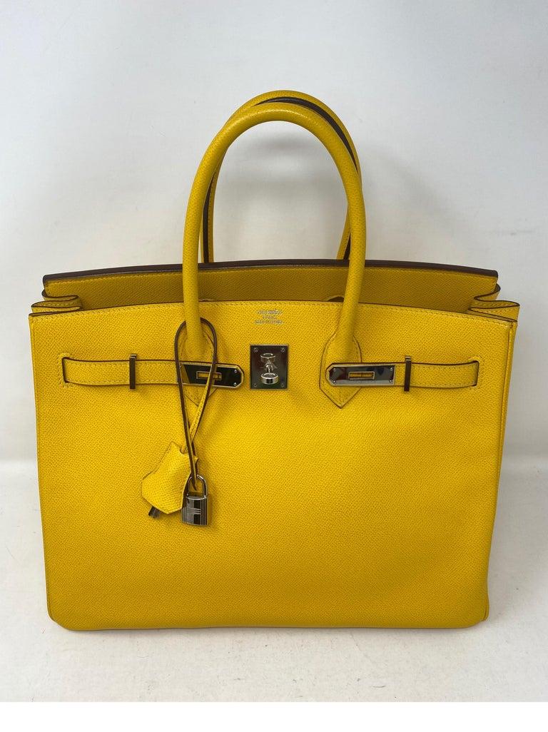 Orange Hermes Birkin Soleil 35 Bag For Sale