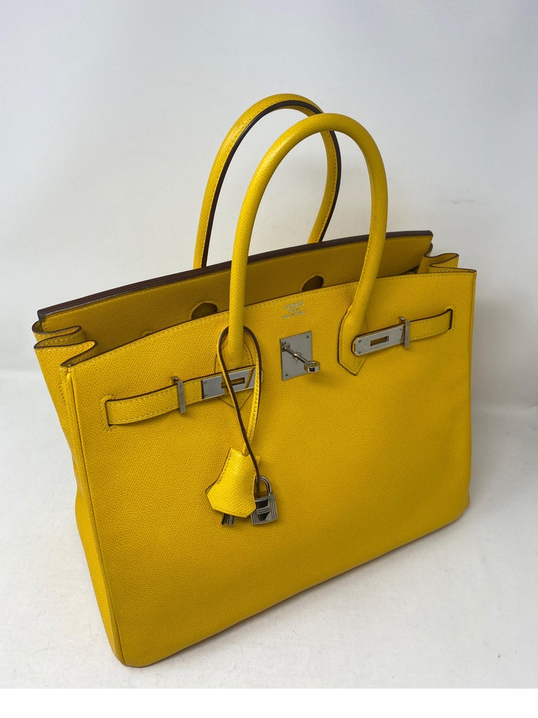 Hermes Birkin Soleil 35 Bag In Excellent Condition For Sale In Athens, GA