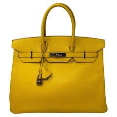 Hermes Birkin Jaune 35 Bag