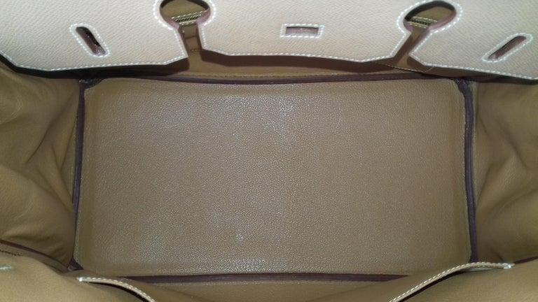 Hermès Birkin Top Handle Bag Naturel Epsom Leather Gold Hdw 35 cm For Sale 6
