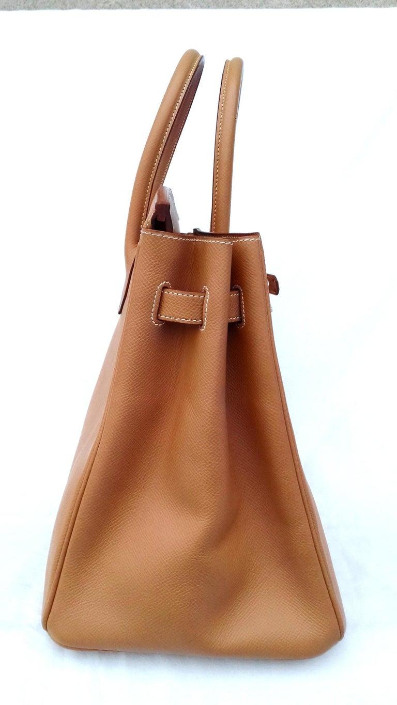 Hermès Birkin Top Handle Bag Naturel Epsom Leather Gold Hdw 35 cm For Sale 7