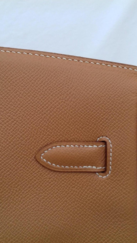 Hermès Birkin Top Handle Bag Naturel Epsom Leather Gold Hdw 35 cm For Sale 8