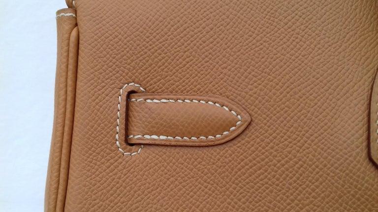 Hermès Birkin Top Handle Bag Naturel Epsom Leather Gold Hdw 35 cm For Sale 10