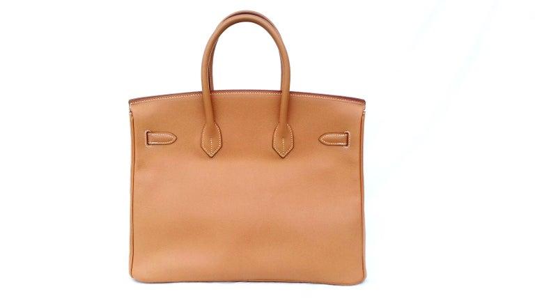 Hermès Birkin Top Handle Bag Naturel Epsom Leather Gold Hdw 35 cm In Excellent Condition For Sale In ., FR