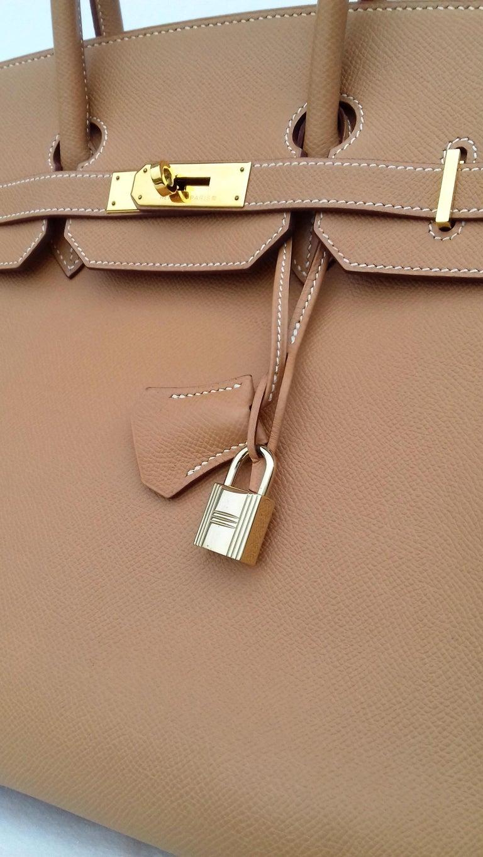 Hermès Birkin Top Handle Bag Naturel Epsom Leather Gold Hdw 35 cm For Sale 2