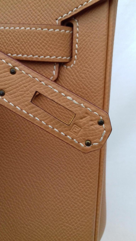 Hermès Birkin Top Handle Bag Naturel Epsom Leather Gold Hdw 35 cm For Sale 3