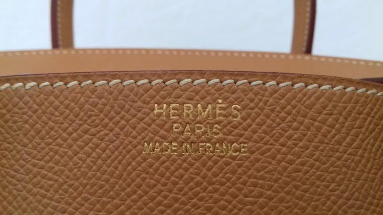 Hermès Birkin Top Handle Bag Naturel Epsom Leather Gold Hdw 35 cm For Sale 4
