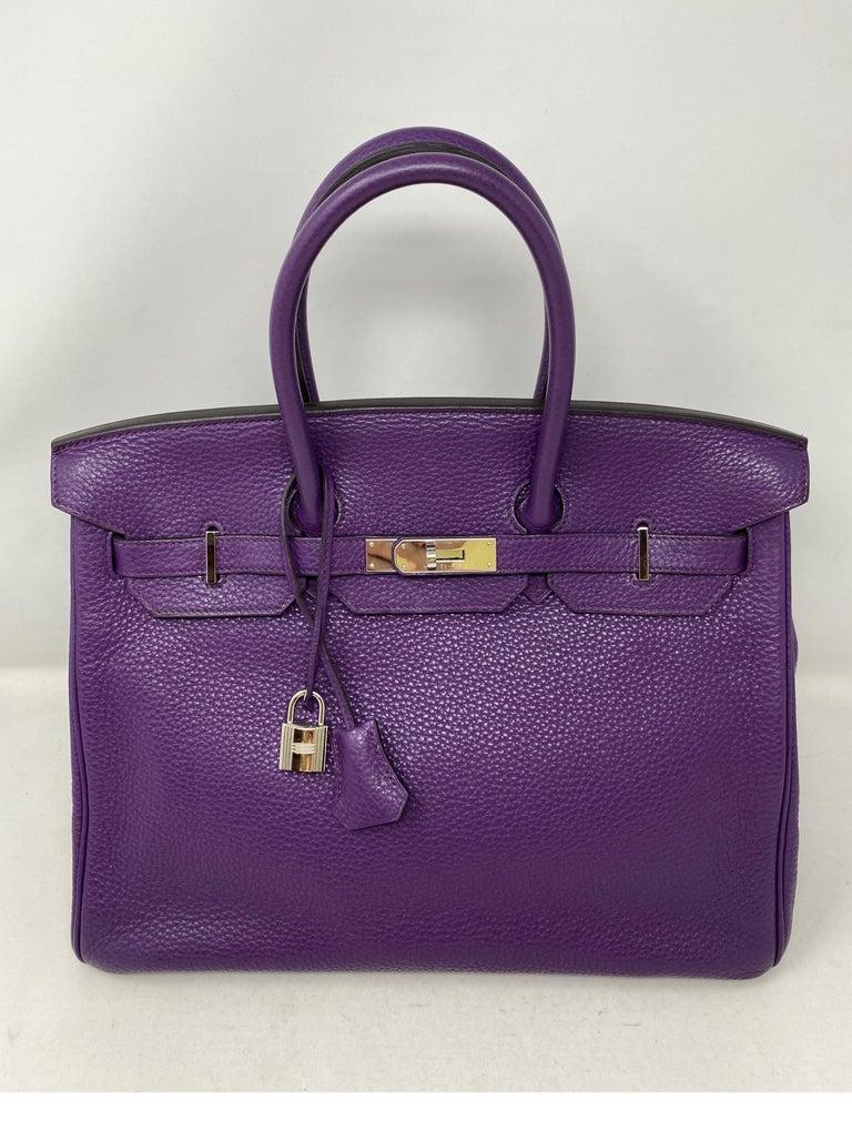 Hermes Birkin Ultraviolet 35 Bag For Sale 5