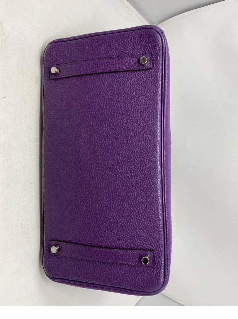 Hermes Birkin Ultraviolet 35 Bag For Sale 6
