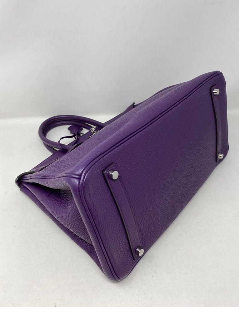 Hermes Birkin Ultraviolet 35 Bag For Sale 7