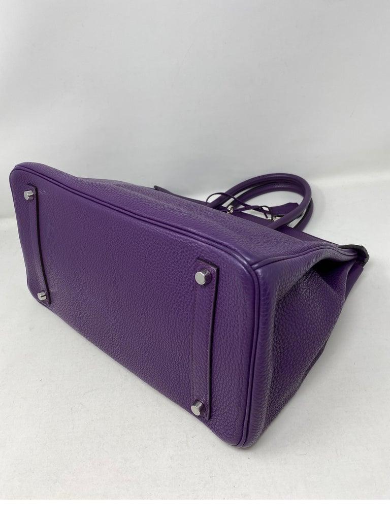 Hermes Birkin Ultraviolet 35 Bag For Sale 8