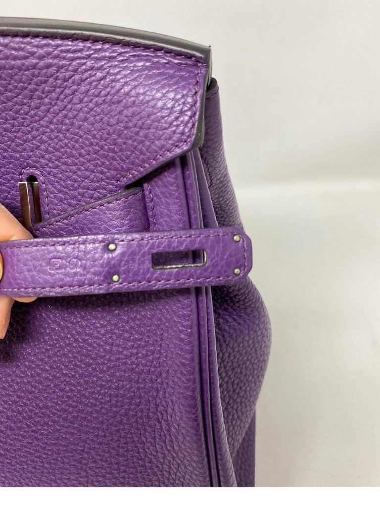 Hermes Birkin Ultraviolet 35 Bag For Sale 9