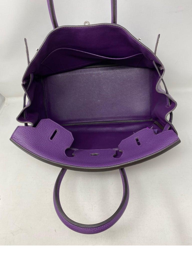 Hermes Birkin Ultraviolet 35 Bag For Sale 10