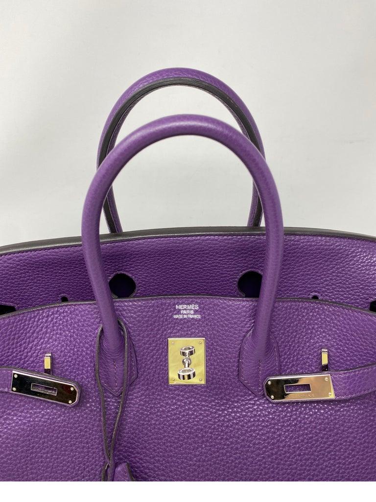 Hermes Birkin Ultraviolet 35 Bag For Sale 11