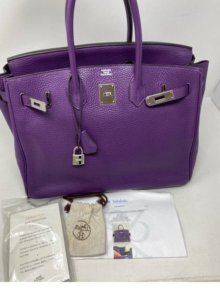Hermes Birkin Ultraviolet 35 Bag For Sale 12