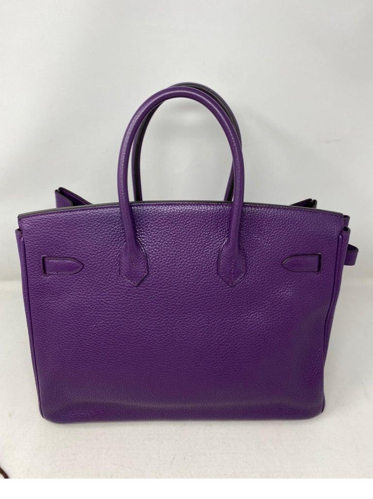 Hermes Birkin Ultraviolet 35 Bag For Sale 13