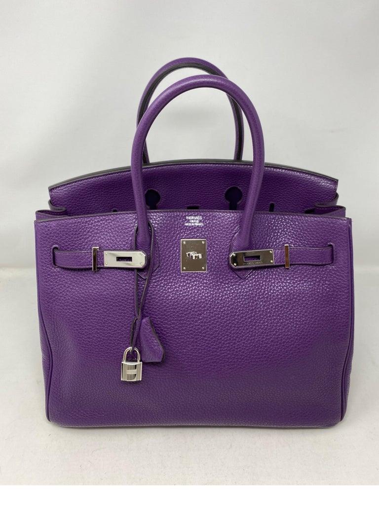 Hermes Birkin Ultraviolet 35 Bag For Sale 14