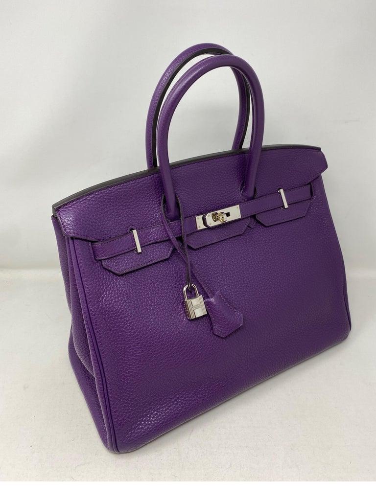 Purple Hermes Birkin Ultraviolet 35 Bag For Sale
