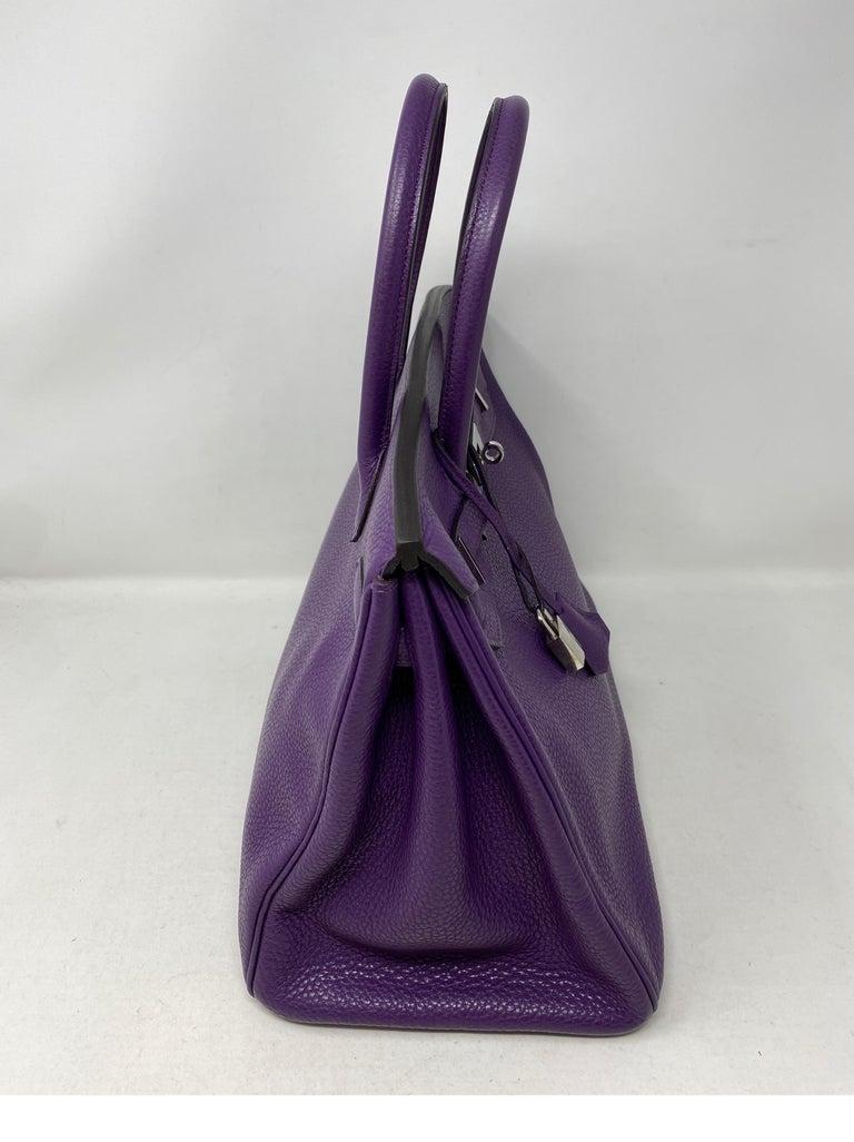 Hermes Birkin Ultraviolet 35 Bag In Excellent Condition For Sale In Athens, GA
