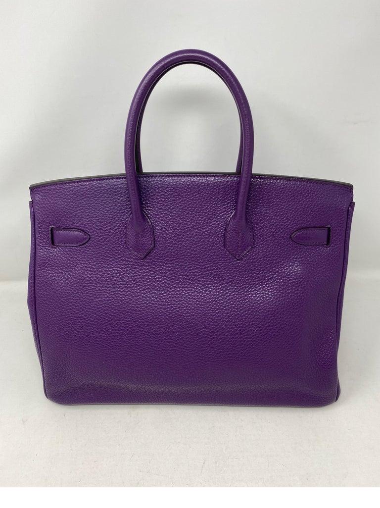 Women's or Men's Hermes Birkin Ultraviolet 35 Bag For Sale