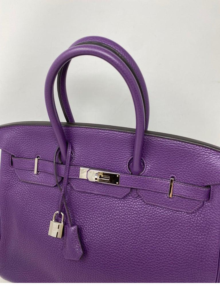 Hermes Birkin Ultraviolet 35 Bag For Sale 3