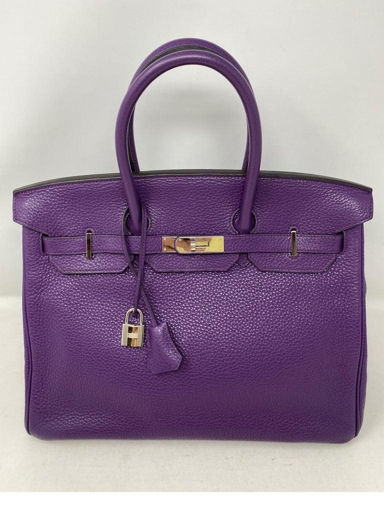 Hermes Birkin Ultraviolet 35 Bag For Sale 4