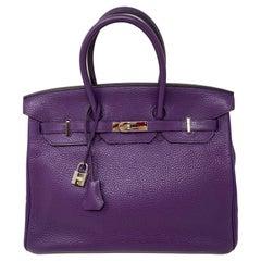 Hermes Birkin Ultraviolet 35 Bag