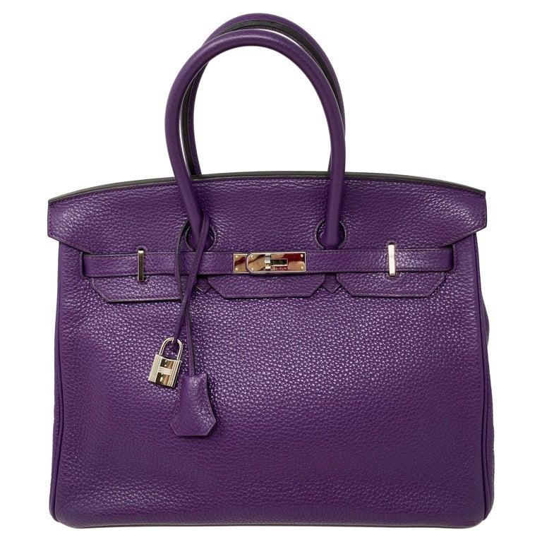 Hermes Birkin Ultraviolet 35 Bag For Sale