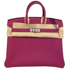 Hermes Birkin Veau Togo Rose Pourpre Bag