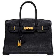 Hermes Black 30cm Birkin Bag