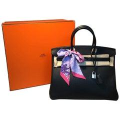 Hermes Black 35cm Togo Birkin Bag PDH